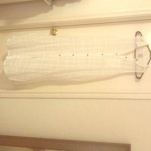 Forever 21 full length button down white dress